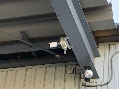 札幌市内運送会社様の物流拠点への防犯カメラの設置